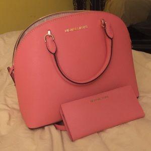Michael Kors Emmy purse and jet set travel wallet